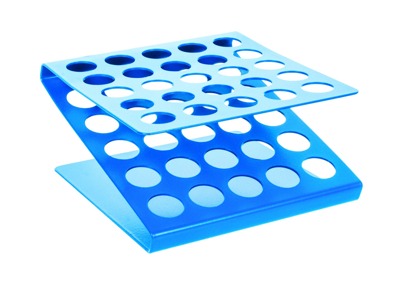 Test Tube Stand - 'Z' Shape, 17 mm x 25 Holes