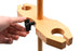 "Adjustable Funnel Stand for 2 Funnels, Polished Wood, 1.5"" Hole Diameter, 18"" Tall - Eisco Labs"