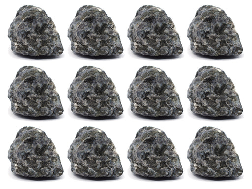 "12PK Raw Gabbro Rock Specimens, 1"" - Geologist Selected Samples - Eisco Labs"
