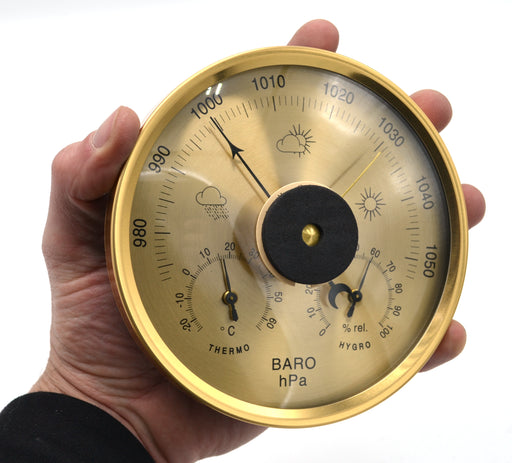 "Eisco Labs 3 in 1 Weather Station - 5.12"" Diameter"