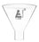 "Powder Funnel, 35ml - Plain Stem - 4.85"" Diameter - Borosilicate Glass - Eisco Labs"