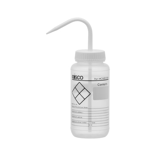 Chemical Wash Bottle, Blank Labels, 500ml
