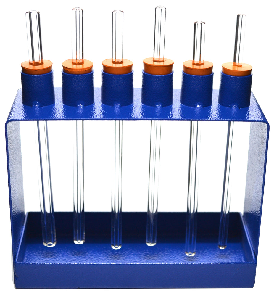 Capillary Tubes Apparatus with Metal Frame, 6 Tubes, Capillary Pressure Demonstration - Eisco Labs