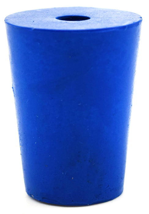 Neoprene Stopper ASTM, 1 Hole - Blue, Size #1-14mm Bottom, 19mm Top, 25mm Length - Pack of 10