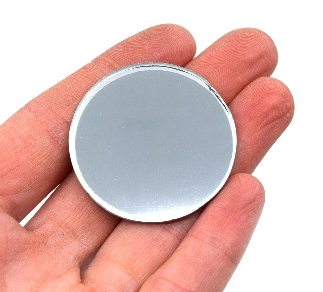 "Convex Mirror, 1.5"" dia., 100mm Focal Length - Glass - Eisco Labs"