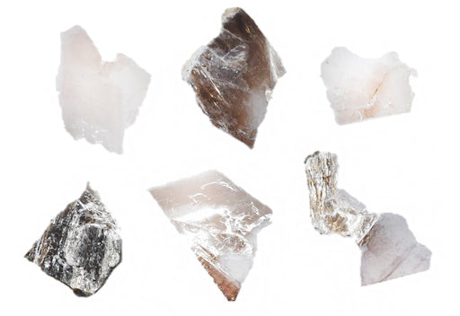 "6PK Muscovite Mica Specimen (Mineral), Approx. 1"" (3cm) - Ideal for Science Classrooms - Eisco Labs"