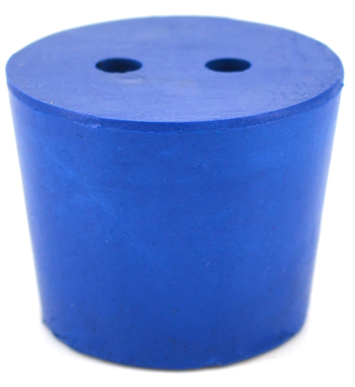 10PK Neoprene Stoppers, 2 Holes - ASTM - Size #6 - 26mm Bottom, 32mm Top, 25mm Length