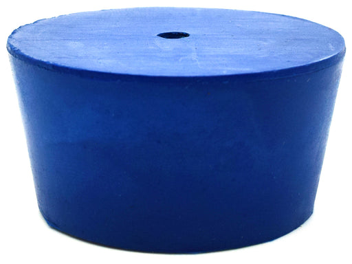 Neoprene Stopper ASTM, 1 Hole - Blue, Size #10 - 42mm Bottom, 50mm Top, 25mm Length - Pack of 10 - Eisco Labs