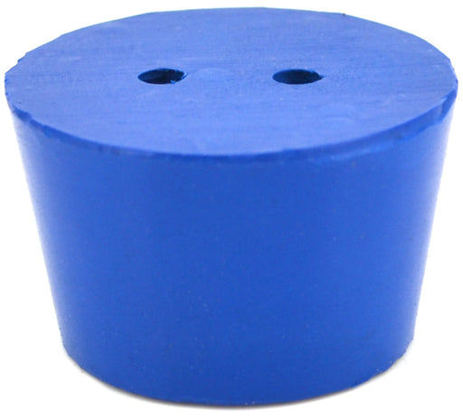 10PK Neoprene Stoppers, 2 Holes - ASTM - Size #8 - 33mm Bottom, 41mm Top, 25mm Length