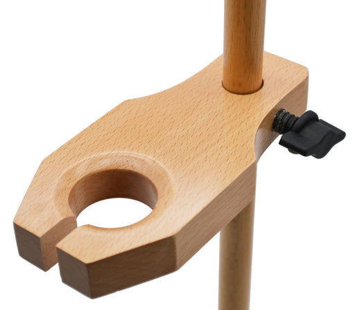 "Adjustable Funnel Stand, Polished Wood, 1.5"" Hole Diameter, 17"" Tall - Eisco Labs"
