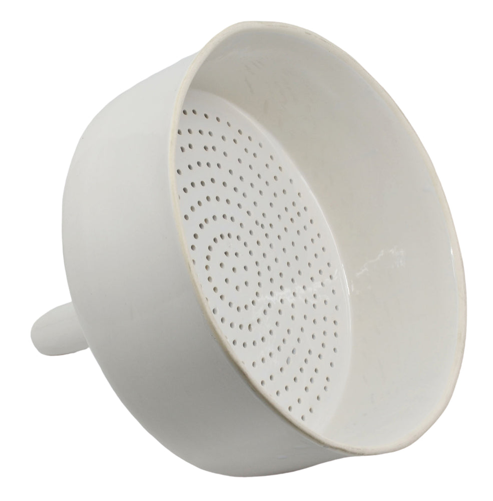 Buchner Funnel, 25cm - Porcelain - Straight Sides, Perforated Plate