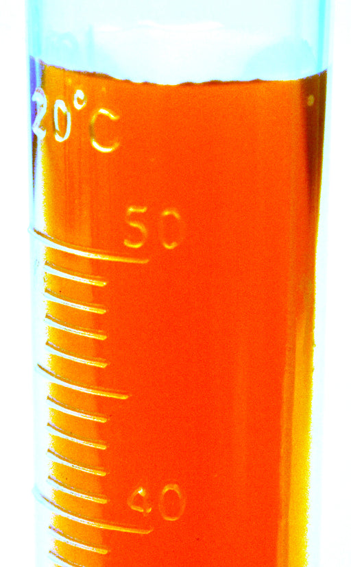 (Discontinued) Measuring Cylinder, 50ml - Polypropylene, Round Base - 1.0ml Raised Graduations - Eisco Labs