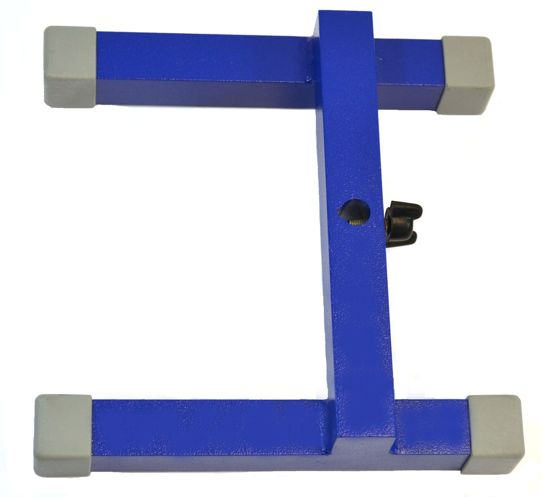"H-Shaped Retort Base - 8""x8"" Base -  Heavy Duty Cast Iron, Blue - Eisco Labs"