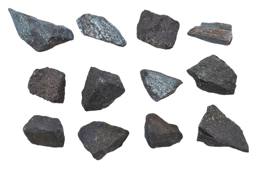 "12PK Raw Magnetite Specimens, 1"" - Geologist Selected Samples - Eisco Labs"