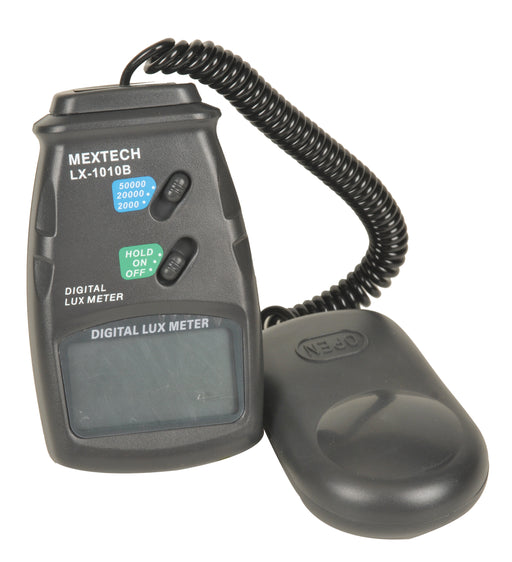 Digital Light Meter, 3 Ranges (2000, 20000, 50000 Lux), Sensor with 2 Filters, Case and Instructions Included - Eisco Labs