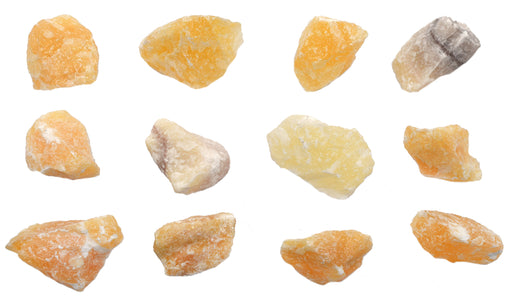 "12PK Raw Calcite Mineral Specimens, 1"" - Geologist Selected Samples - Eisco Labs"