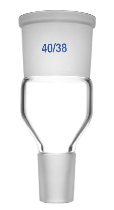 Expansion Adapter - Socket Size: 40/38 - Cone Size: 24/29 - Borosilicate 3.3 Glass - Eisco Labs