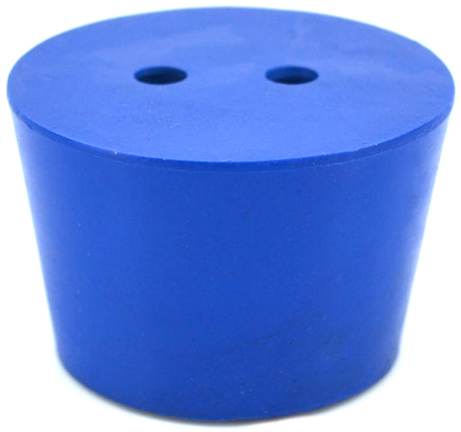 10PK Neoprene Stoppers, 2 Holes - ASTM - Size #7.5 - 31mm Bottom, 39mm Top, 25mm Length