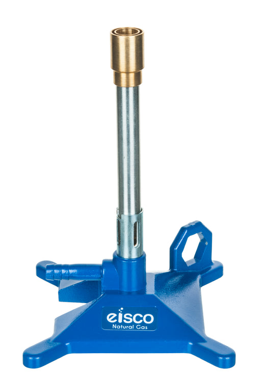 Natural Gas Bunsen Burner, StabiliBase Anti-Tip Design with Handle, with Flame Stabilizer, NG - Eisco Labs