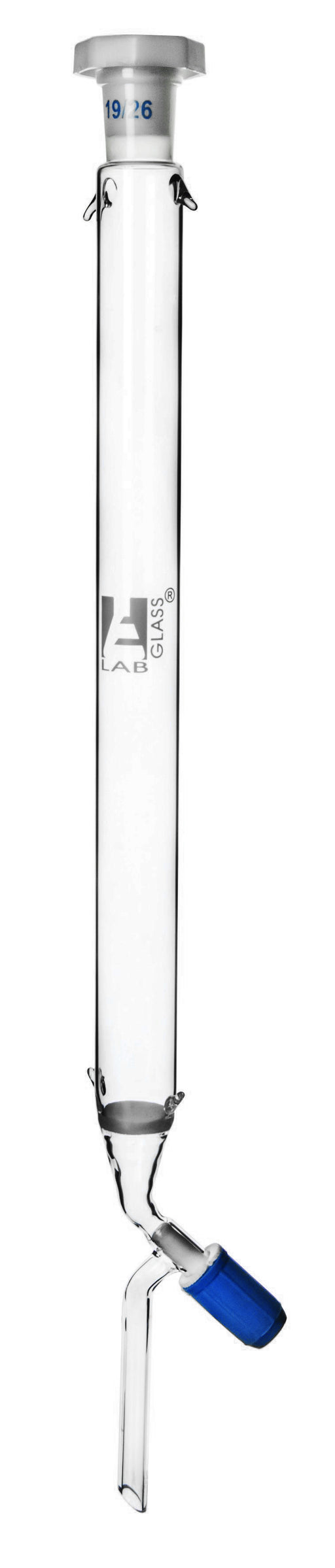 Chromatography Column, 12 Inch - 19/26 Joint Size - Borosilicate 3.3 Glass - With Rotaflow Stopcock & Sintered Disc - Eisco Labs