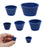 7 Piece Filter Adapter Tapered Cones Set - Designed For Use With Buchner Funnels - Multiple Sizes - Neoprene Rubber - Eisco Labs