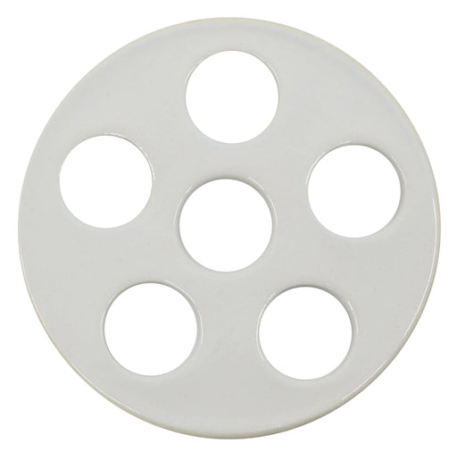 "Desiccator Plate with Holes, Porcelain, 15cm (5.5"") Diameter - Eisco Labs"