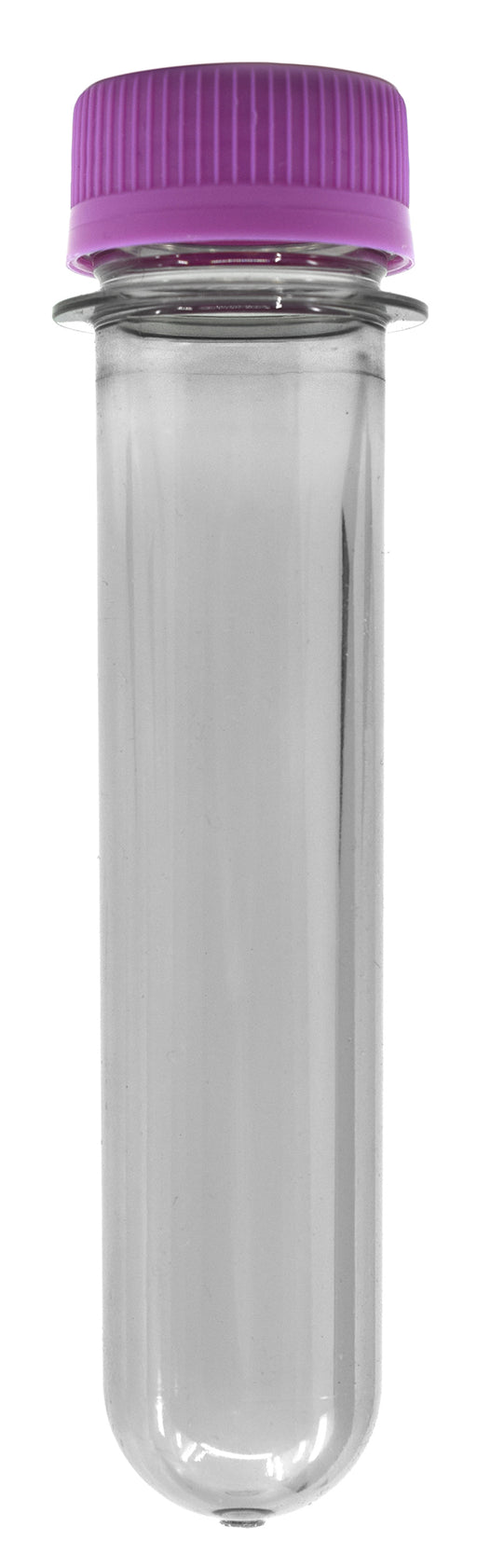 50PK Baby Soda Bottles with Caps, 25ml - Plastic Test Tubes - Polyethylene Terephthalate (PET) - Eisco Labs
