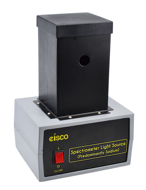 Spectrometer Light Source (110V) - Used in Spectrometry Experiments - High Brightness - Predominantly Sodium - Eisco Labs