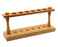 "Wooden Test Tube Rack - Holds 6 Tubes - 9.75"" Wide - Polished Wood"