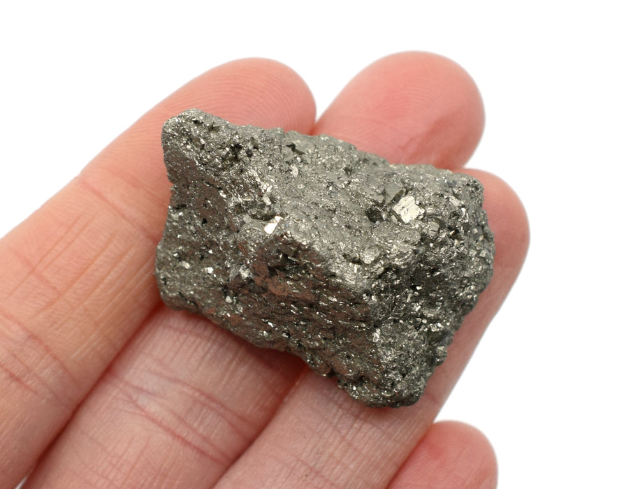"Raw Pyrite Mineral Specimen, 1"" - Geologist Selected Samples - Eisco Labs"