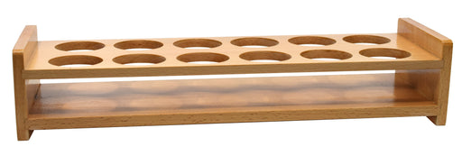 "Wooden Bottle Stand - Fits 12 Bottles, up to 1.75"" Diameter - Beechwood - Eisco Labs"