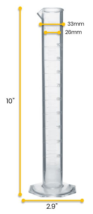 Measuring Cylinder, 100ml - Class B - TPX