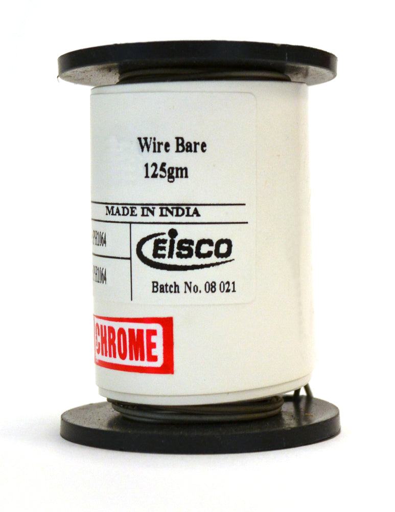 "Eisco Labs Nichrome Resistance Wire, 150ft Reel, 22 Gauge SWG - 21 AWG - 0.028"" Dia."
