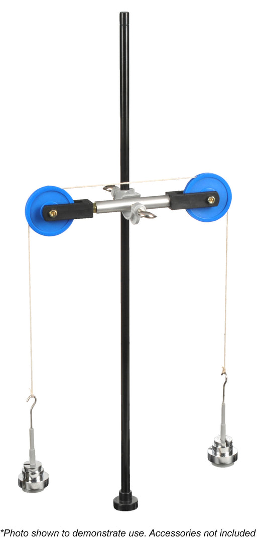 Atwood Machine Kit - Experiment Components Only - Useful in Studying Newton's Law - Atwood Machine, Right Angle Clamp, String Spool & Spring - (Base Not Included) - Visual Scientifics by Eisco