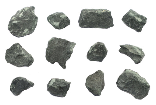 12 Pack - Raw Chlorite, Metamorphic Mineral Specimens - Approx. 1""
