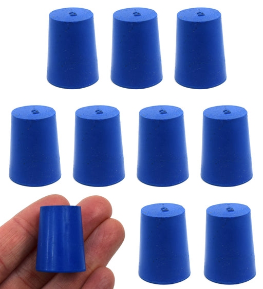 10PK Neoprene Stoppers, Solid - ASTM - Size: #2 - 16mm Bottom, 20mm Top, 25mm Length