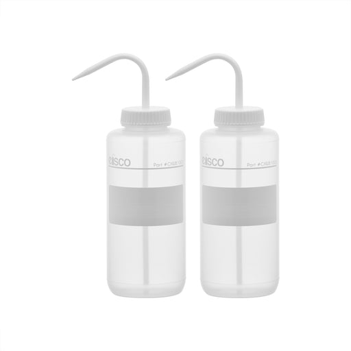 2PK Performance Plastic Wash Bottle, No Label, 1000 ml