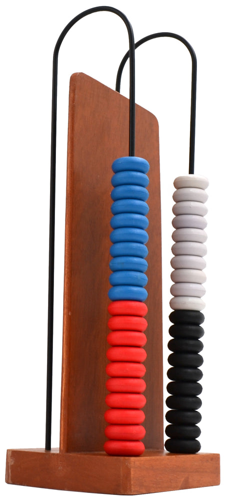 Abacus - Wooden Frame - 2 Steel Wires