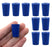 Neoprene Stopper ASTM, 1 Hole - Blue, Size #00-10mm Bottom, 14mm Top, 25mm Length - Pack of 10