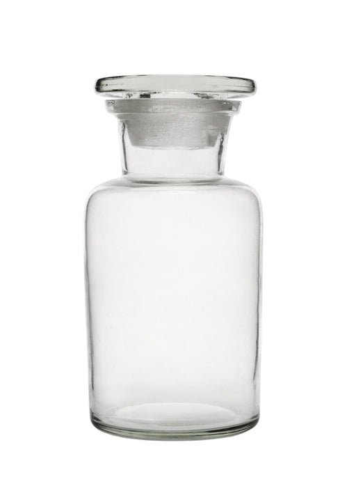 Reagent Bottle, 250ml - Wide Neck - Glass Stopper - Soda Glass