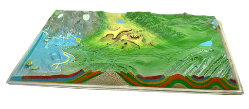 "Comparative Terrain Landform Models, 23.5"", Set of 2 - Full Color"