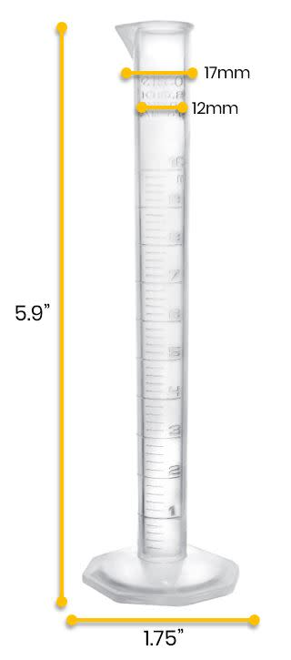Measuring Cylinder, 10ml - Class B - TPX
