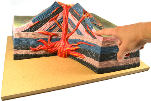 Active Volcano Model, 17 Inch - with Cut Away View - Table Top - Eisco Labs