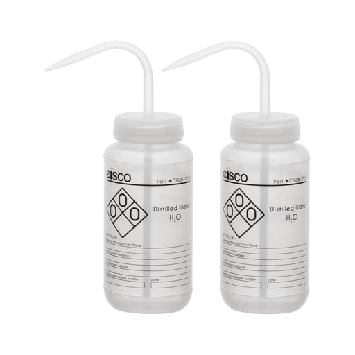 2PK Performance Plastic Wash Bottle, Distilled Water, 500 ml - Labeled (1 Color)