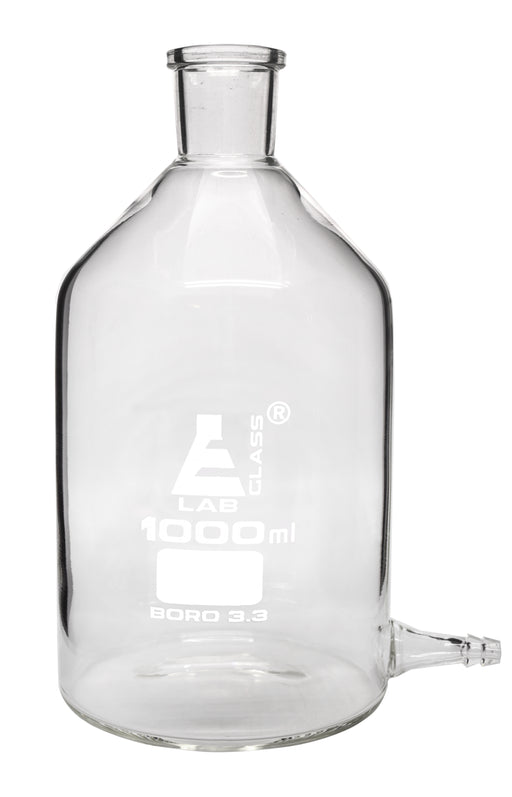 Aspirator Bottle with Outlet for Tubing, 1000ml, Borosilicate Glass - Eisco Labs