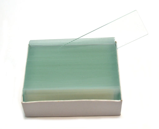 Microscope Glass Slide - Plain - Pack of 50, Size 75 x 25 mm Thickness 1.1 - 1.2 - Eisco Labs