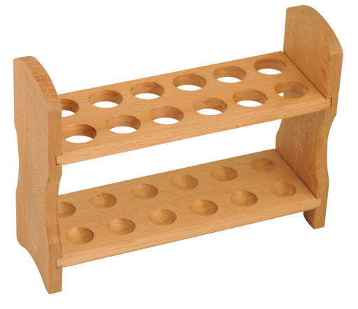 Test Tube Rack, 9 Inch - 12 Tube Capacity - Wooden, Beechwood
