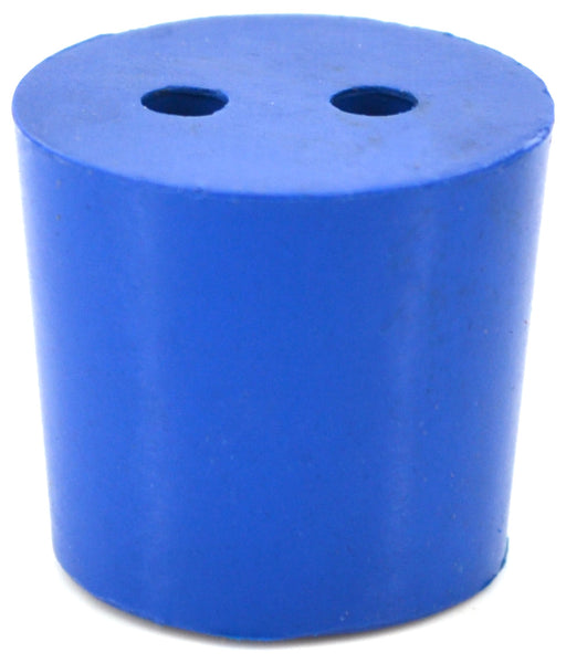 10PK Neoprene Stoppers, 2 Holes - ASTM - Size #5.5 - 24mm Bottom, 28mm Top, 25mm Length