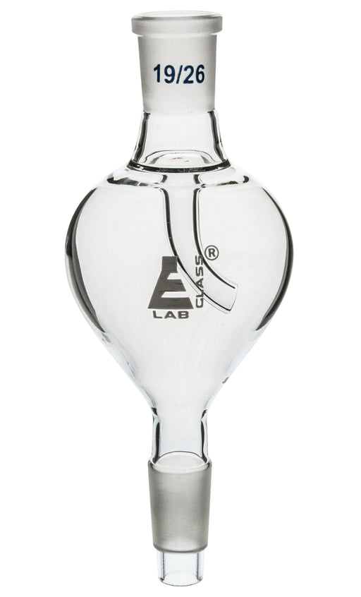 Splash Head, Vertical Pear Shape, Socket Size 19/26, Cone Size 24/29, Borosilicate Glass - Eisco Labs