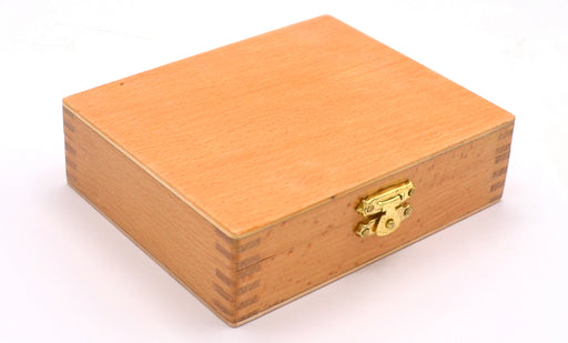 Wooden Slide Box for 25 Slides with Latch - For 75x25mm Slides - Eisco Labs
